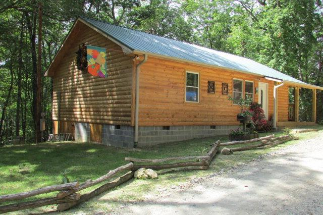 Beautiful 2 bedroom/1 full bath/1 half bath  custom built log sided cabin  in Linville Falls, NC.  For more information on this or any of our listings call us at 800-521-3712 or visit our website:  ww