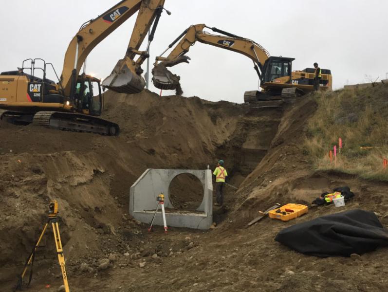 Dawson Construction Ltd in Kamloops: Hillside Stormwater Improvements
