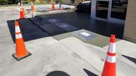 New wheelchair ramp! Concrete flatwork to the rescue once again!