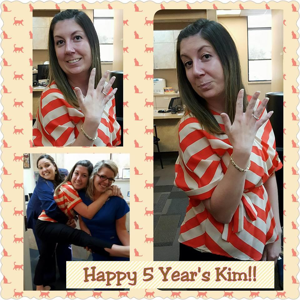 Happy 5 year anniversary Kim Melton!! You are part of the glue that holds us together at CR! We are thankful to have such a fiesty, spirited and VERY organized