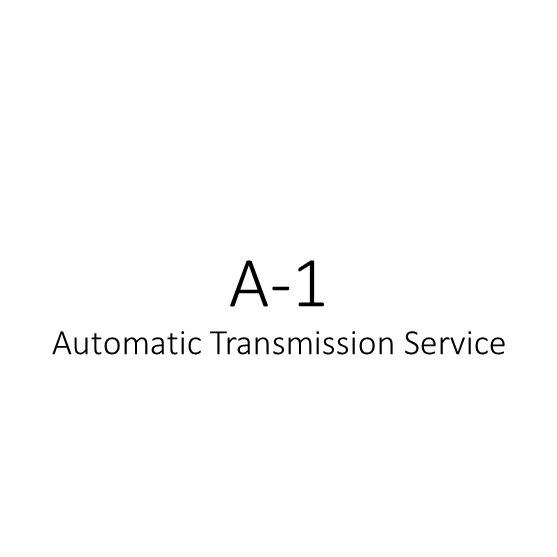 A-1 Automatic Transmission Service