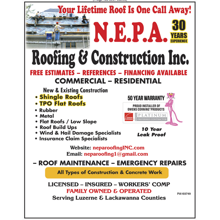 N E P A Roofing & Construction Inc