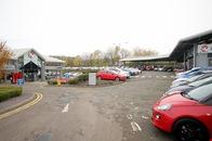 Cars parked outside the Vauxhall Edinburgh dealership