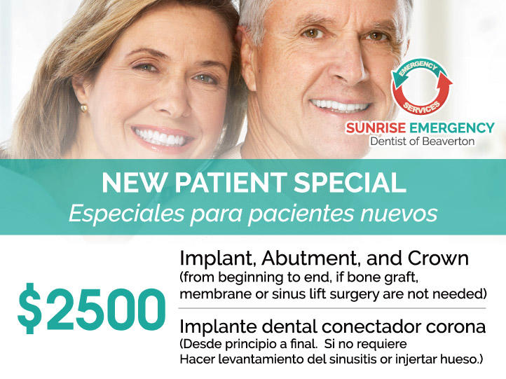 Sunrise Emergency Dentist Beaverton - Hillsboro, Tanasbourne, Tigard | 14425 SW Allen Blvd, #3, Beaverton, OR, 97005 | +1 (503) 644-1127