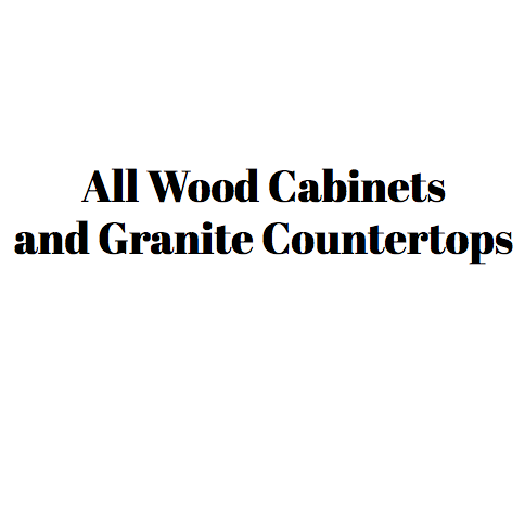 All Wood Cabinets and Granite Countertops