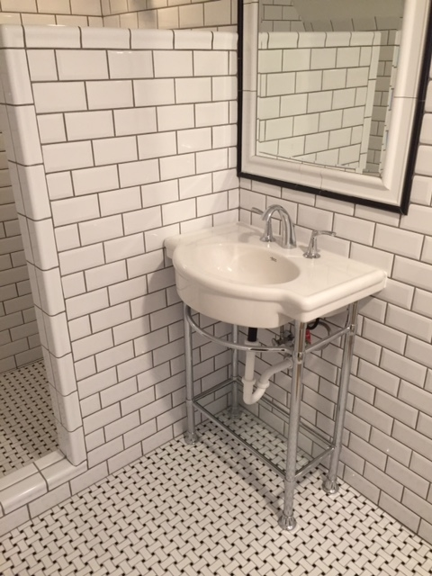 Art-Deco Subway Style Bathroom Remodeling