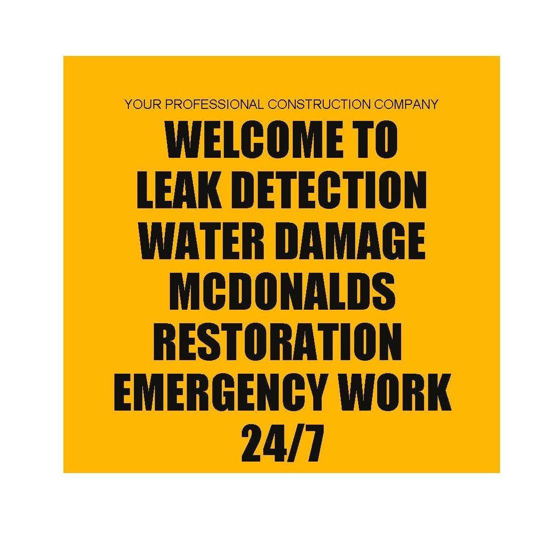 Leak Detection Mcdonalds Restoration 24/7