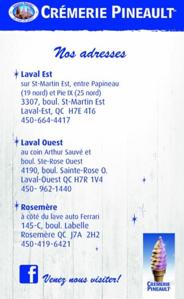 Crémerie Pineault à Laval-Ouest