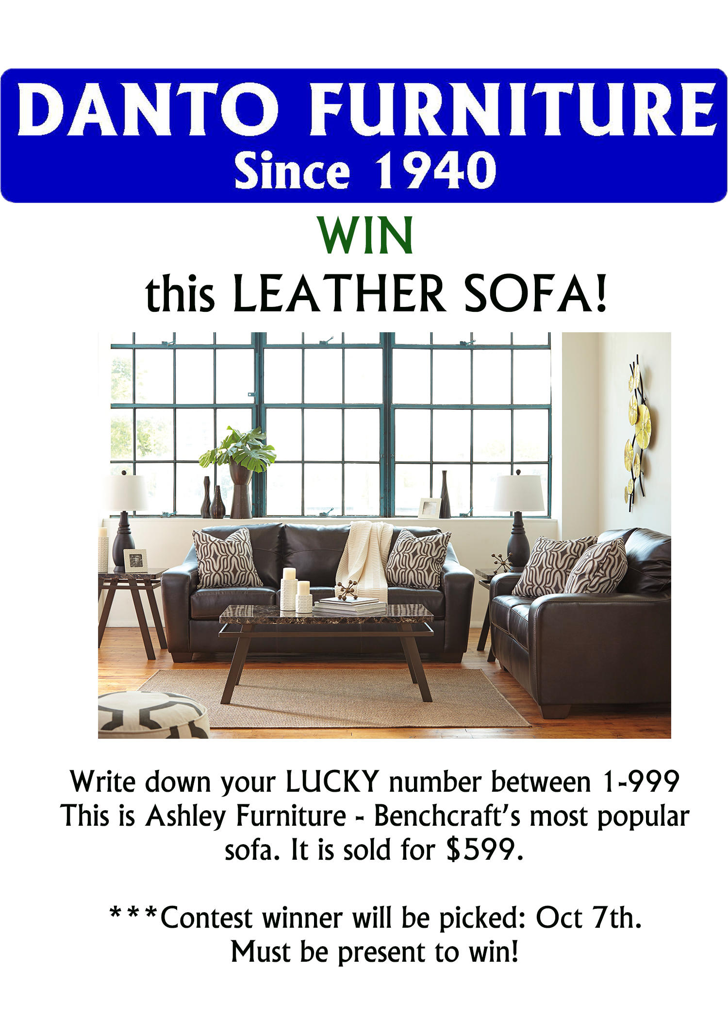 Sofa Giveaway