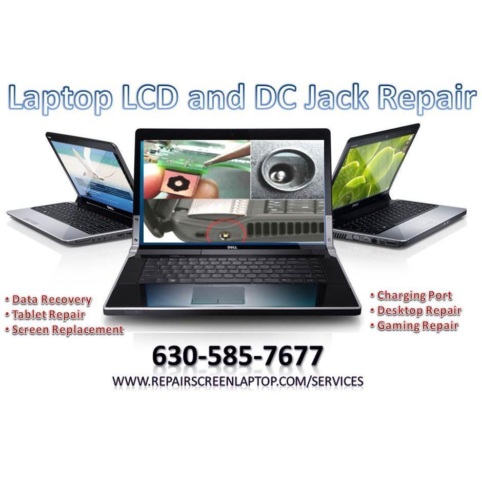 Laptop LCD Screen and DC Jack Repair