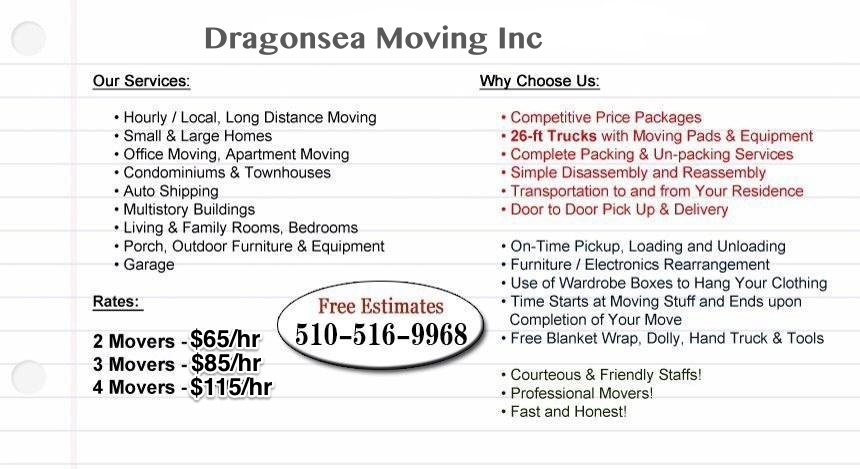 Dragon Sea Moving Inc. image 1