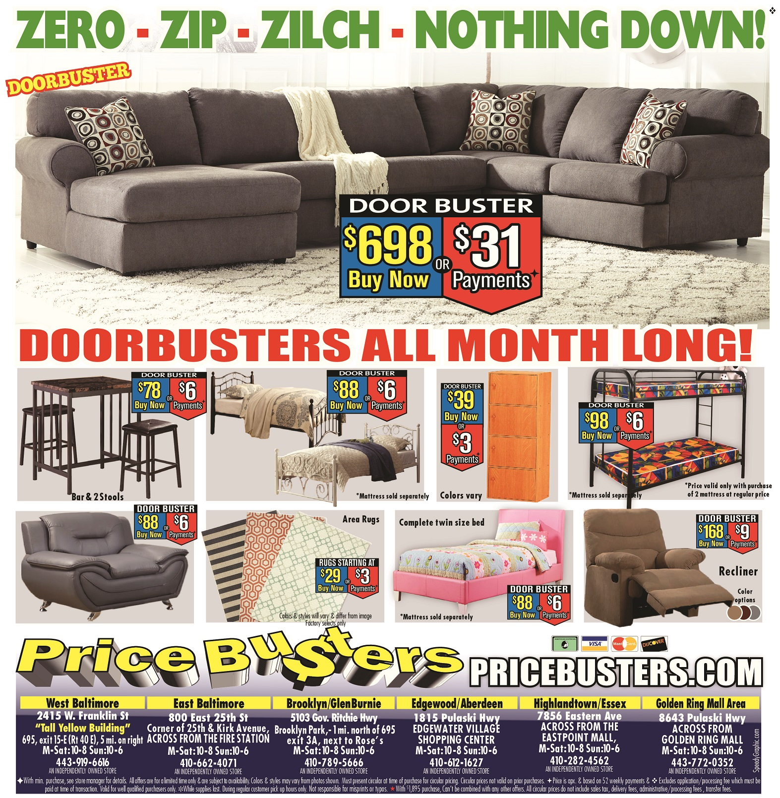 Price Busters Discount Furniture In Rosedale Md 443 772 0