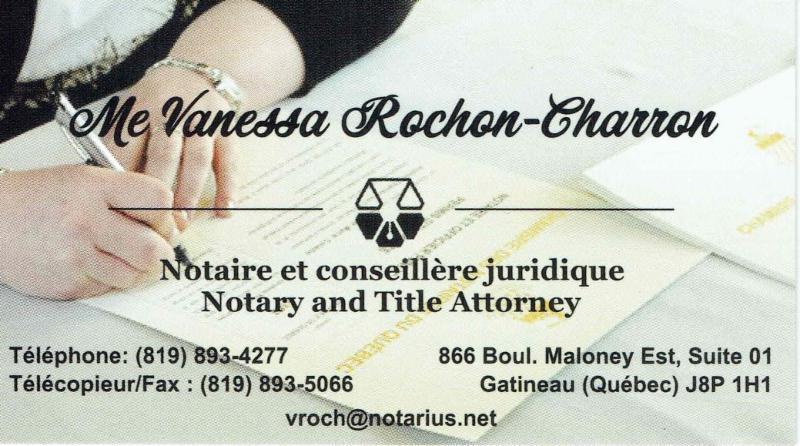 Vanessa Rochon Charron Notaire