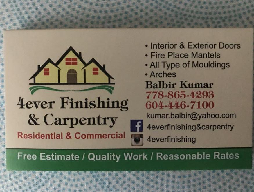 4ever Finishing & Carpentry