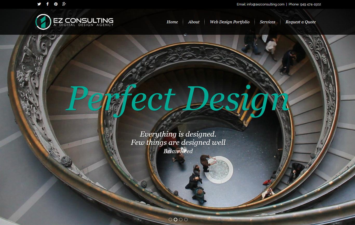 Orange county web design ca 1ez consulting 1300 for Product design consultancy bristol