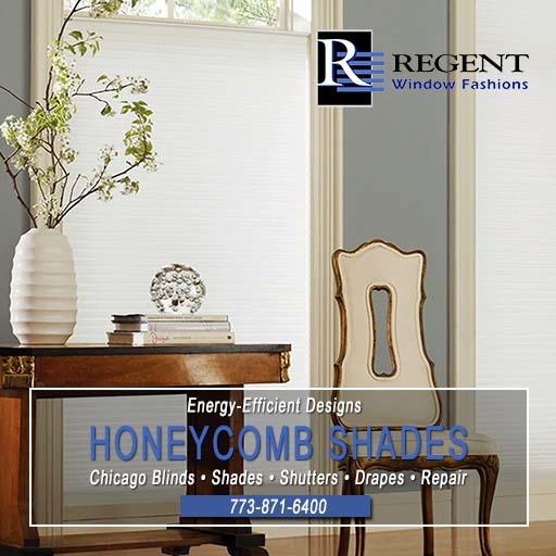 Honeycomb window shades Chicago by Regent Window Fashions.