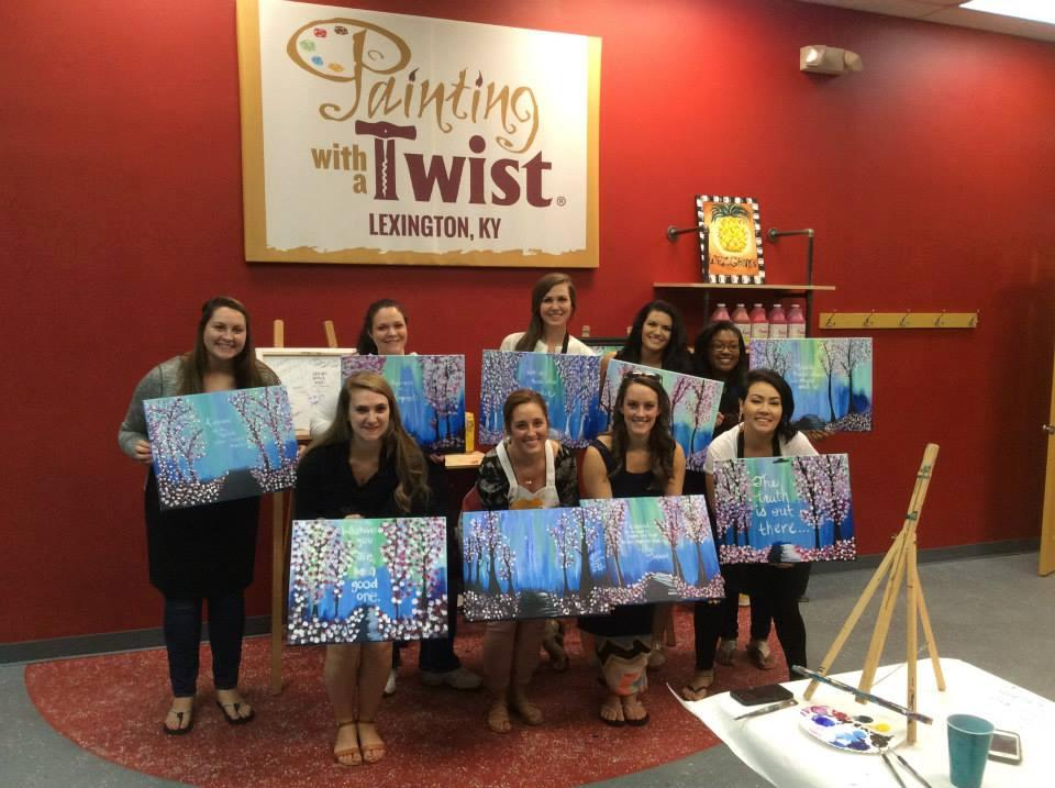 painting with a twist in lexington ky 859 309 5