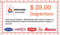 $29.00 inspection on heating or cooling unit.