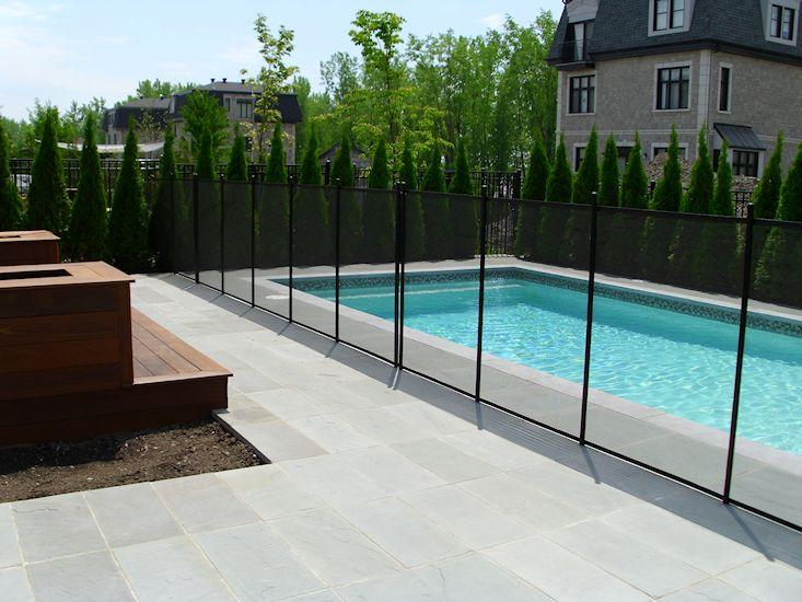 Cl tures de piscine amovibles pool guard 690 rue saint for Cloture piscine montreal