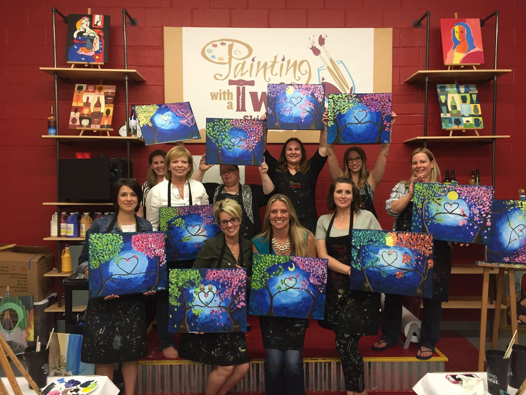 Painting with a twist in schwenksville pa whitepages for Painting with a twist chicago