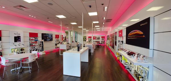 Interior photo of T-Mobile Store at Lansing Mall 3, Lansing, MI