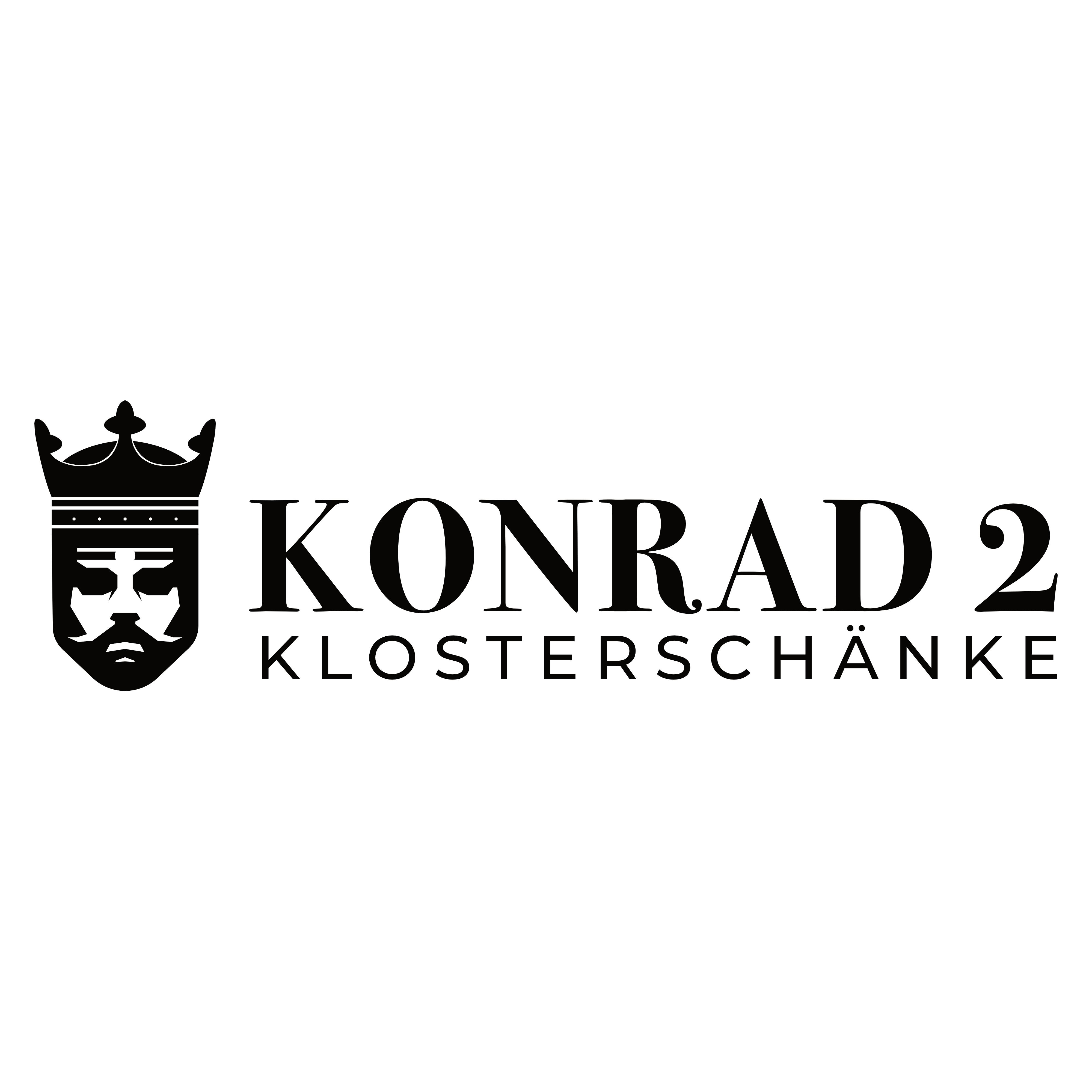 Logo von KONRAD2 auf der Klosterruine Limburg in Bad Dürkheim