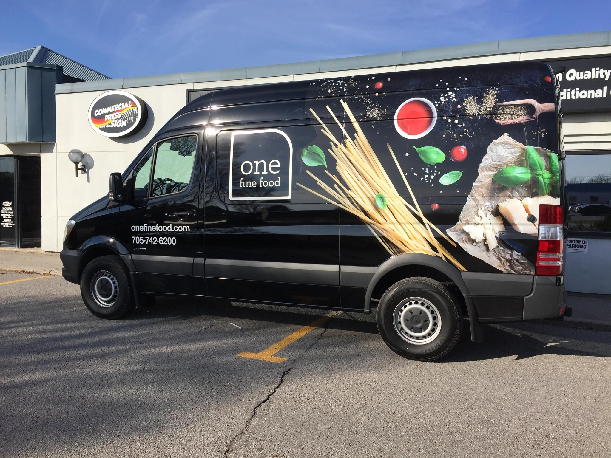 Commercial Press & Design in Peterborough: Dodge Sprinter Van Graphics - Produced and installed by Commercial Press and deSign.