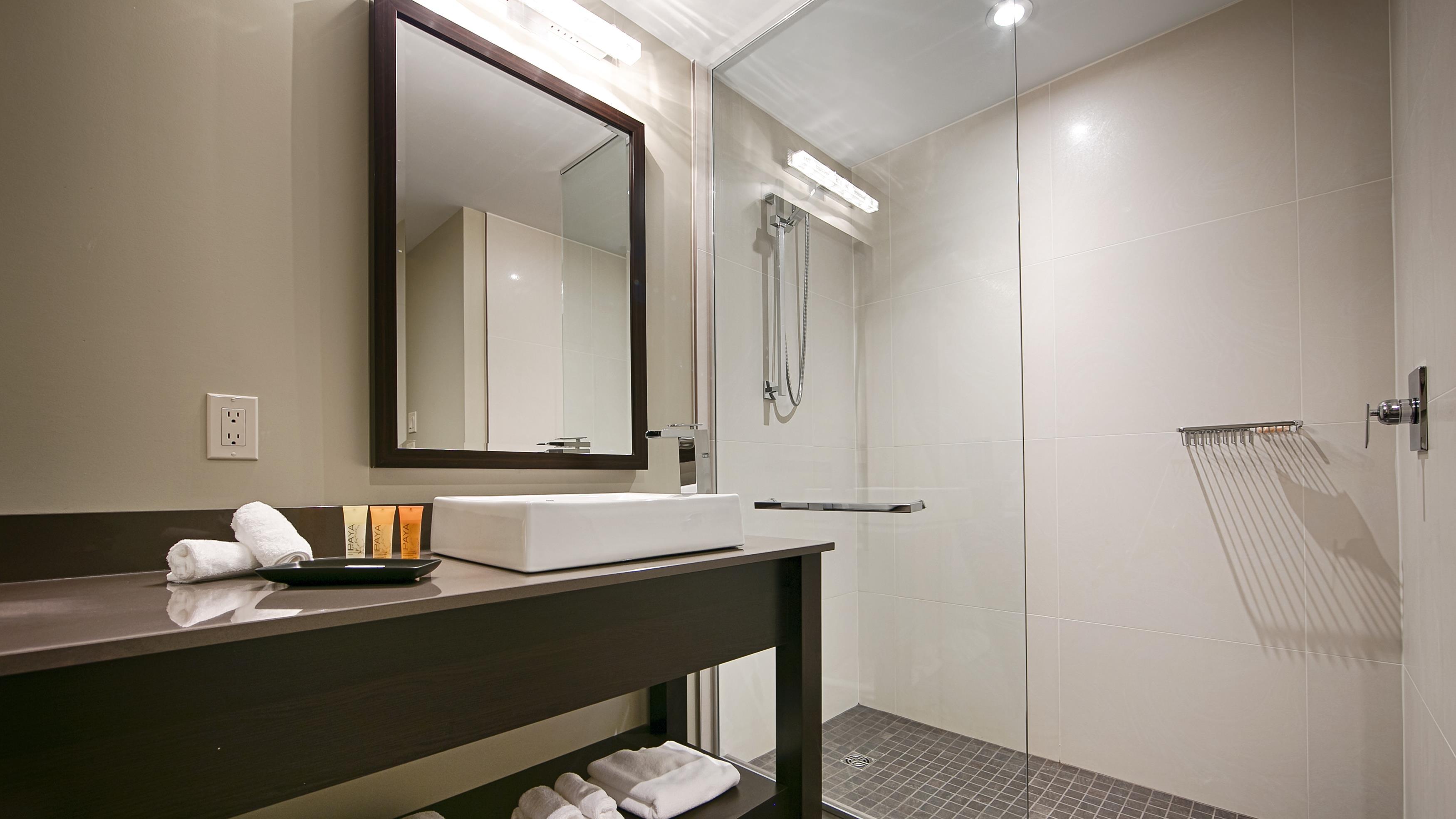 Best Western Plus Hotel Levesque à Riviere-du-Loup: Terra Aqua Bathroom