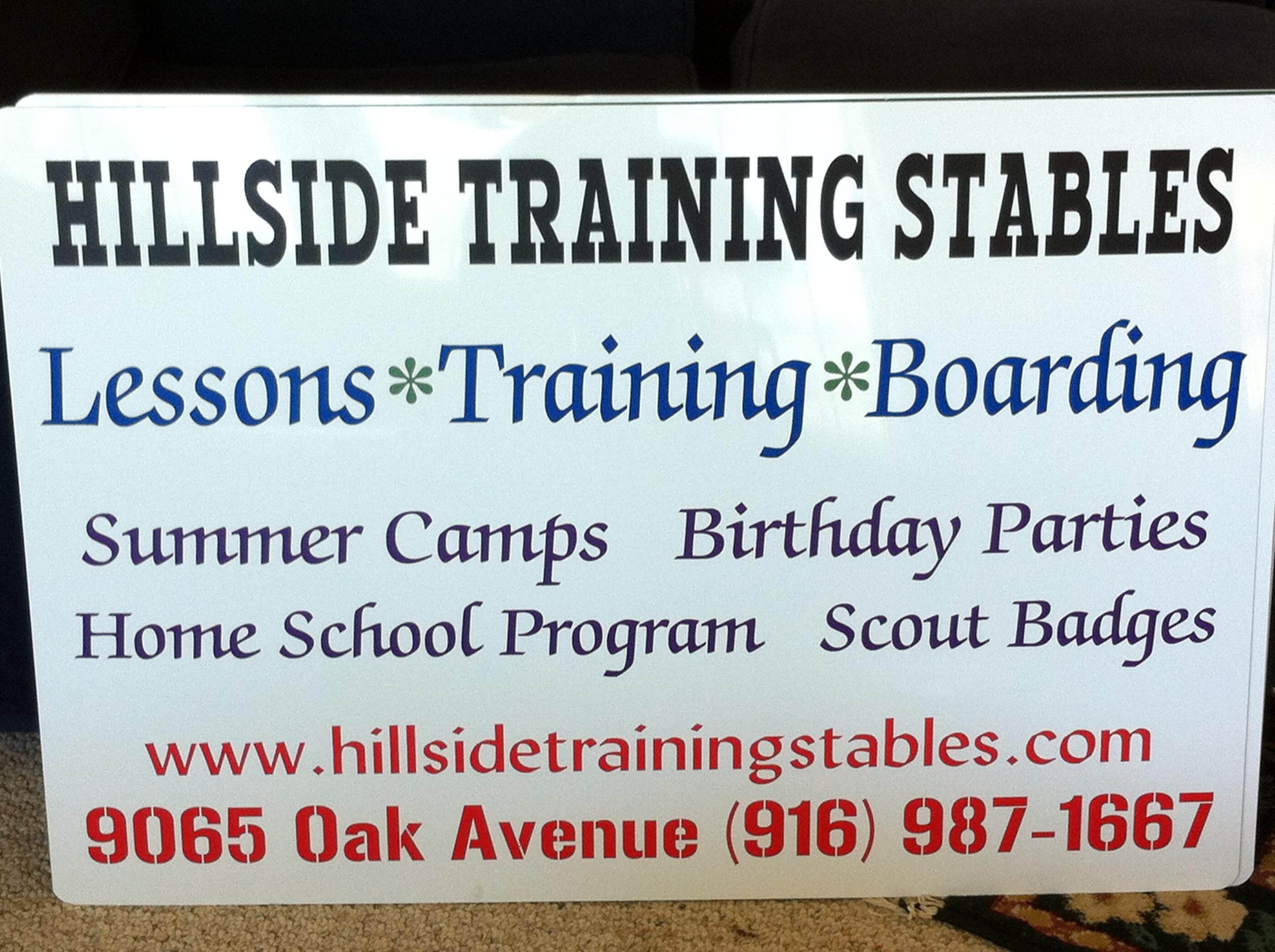 Hillside Training Stables in Orangevale, CA