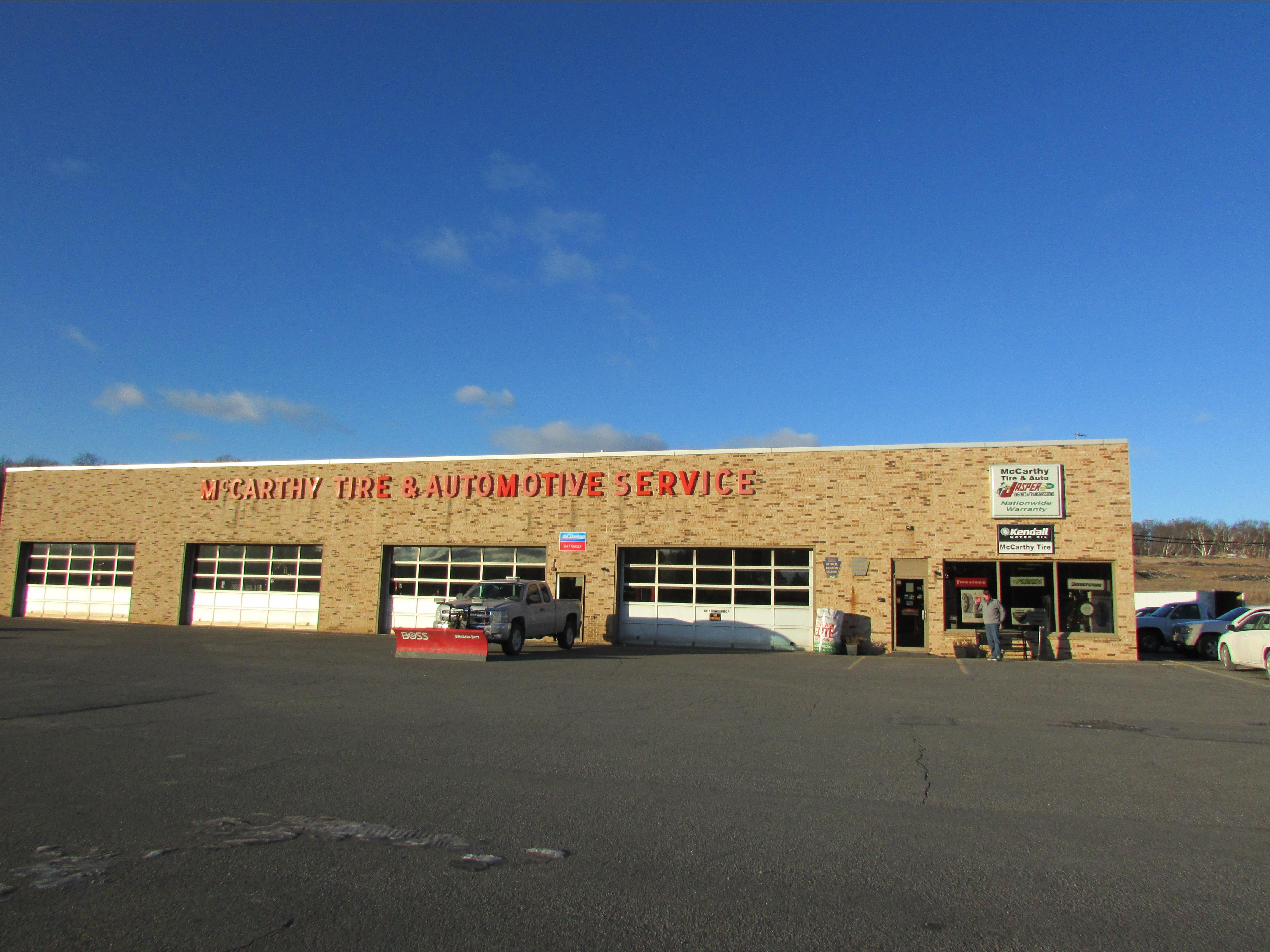 mccarthy tire service auto repair shop hazleton pa 18202. Black Bedroom Furniture Sets. Home Design Ideas