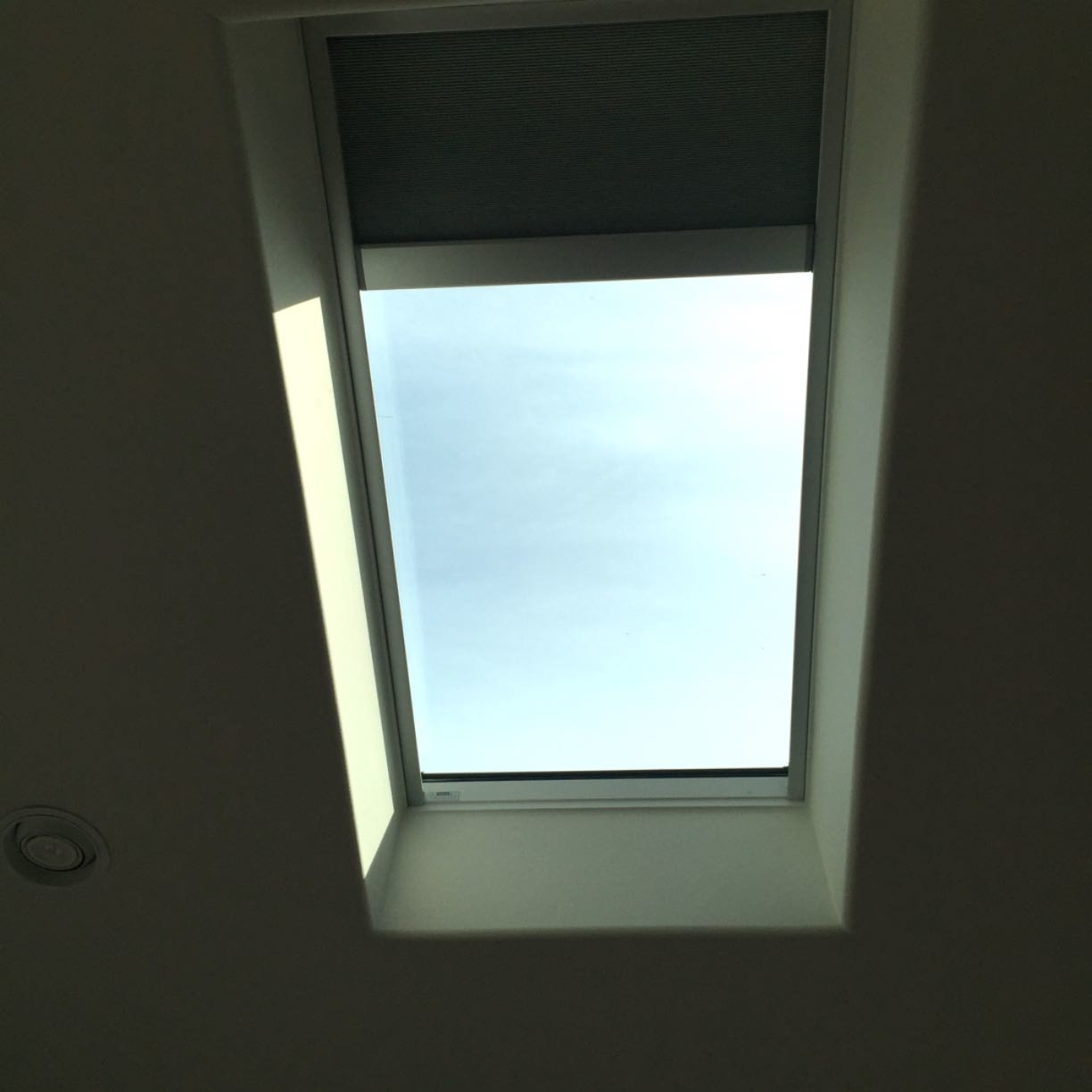 Skylight With Solar Powered Remote Control Shade