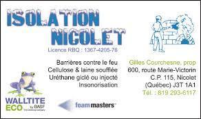 Isolation Nicolet Inc à Nicolet