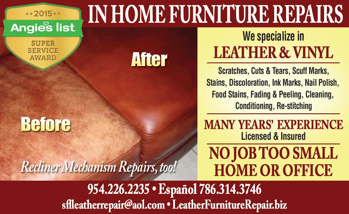 In Home Furniture Repair Inc. In Home Furniture Repair Inc  in Hallandale  FL    954  226 2
