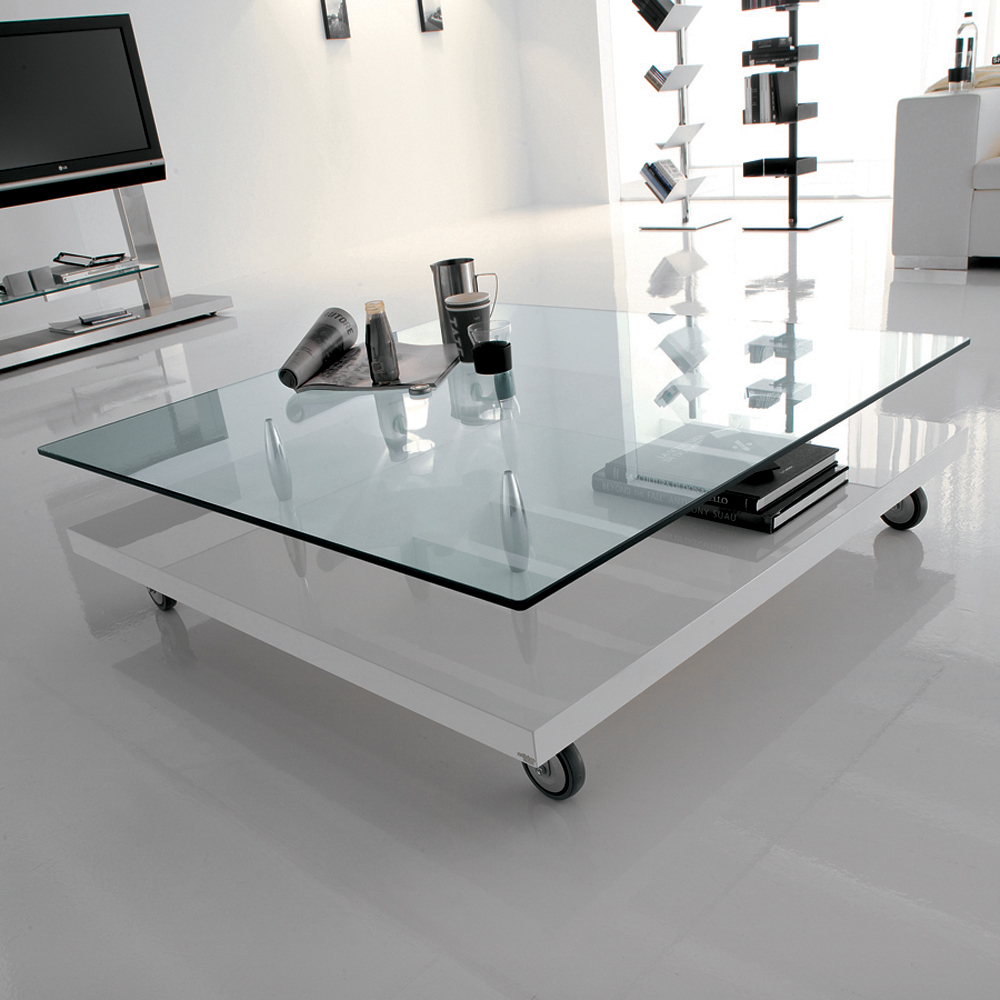 White Color and Glass Table in the Living Room | Design & DIY Magazine