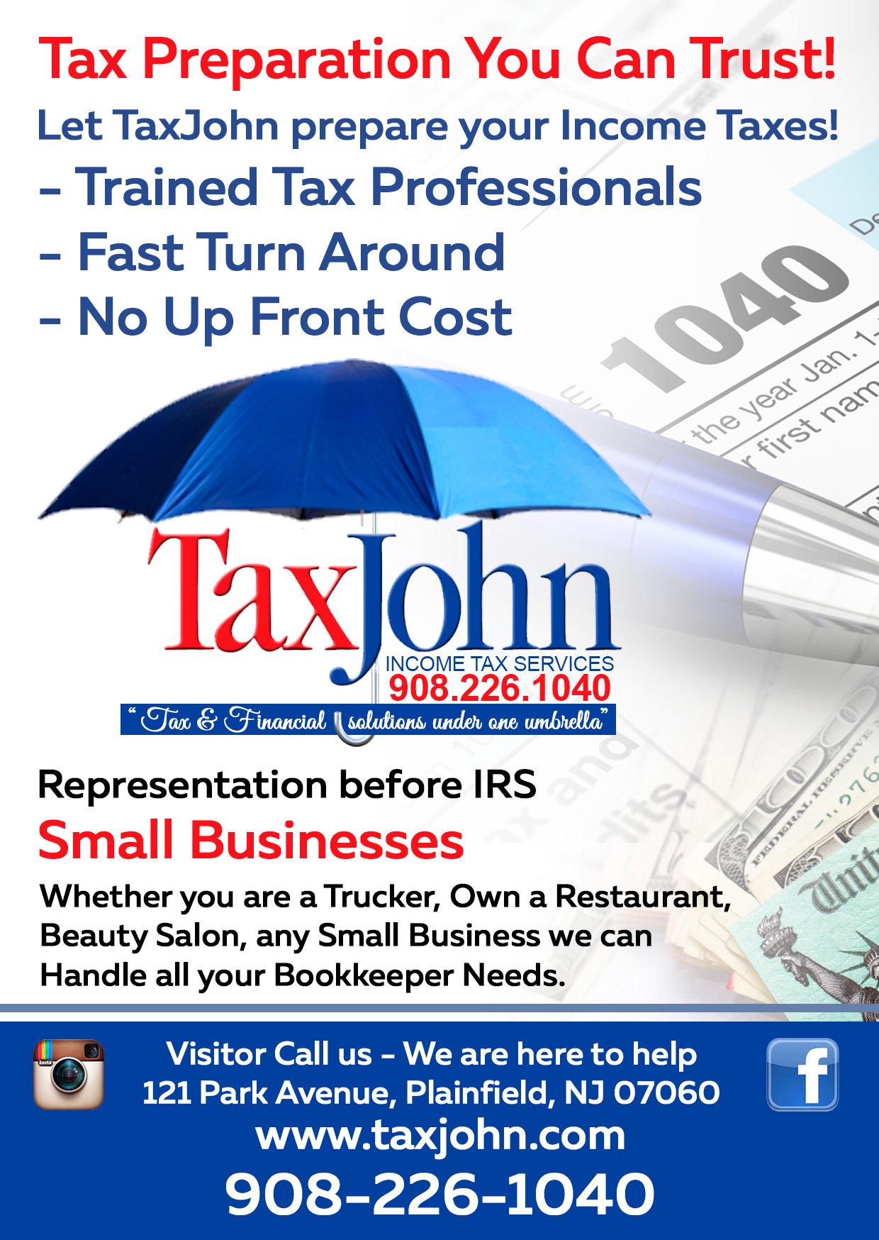 Income tax preparation coupons