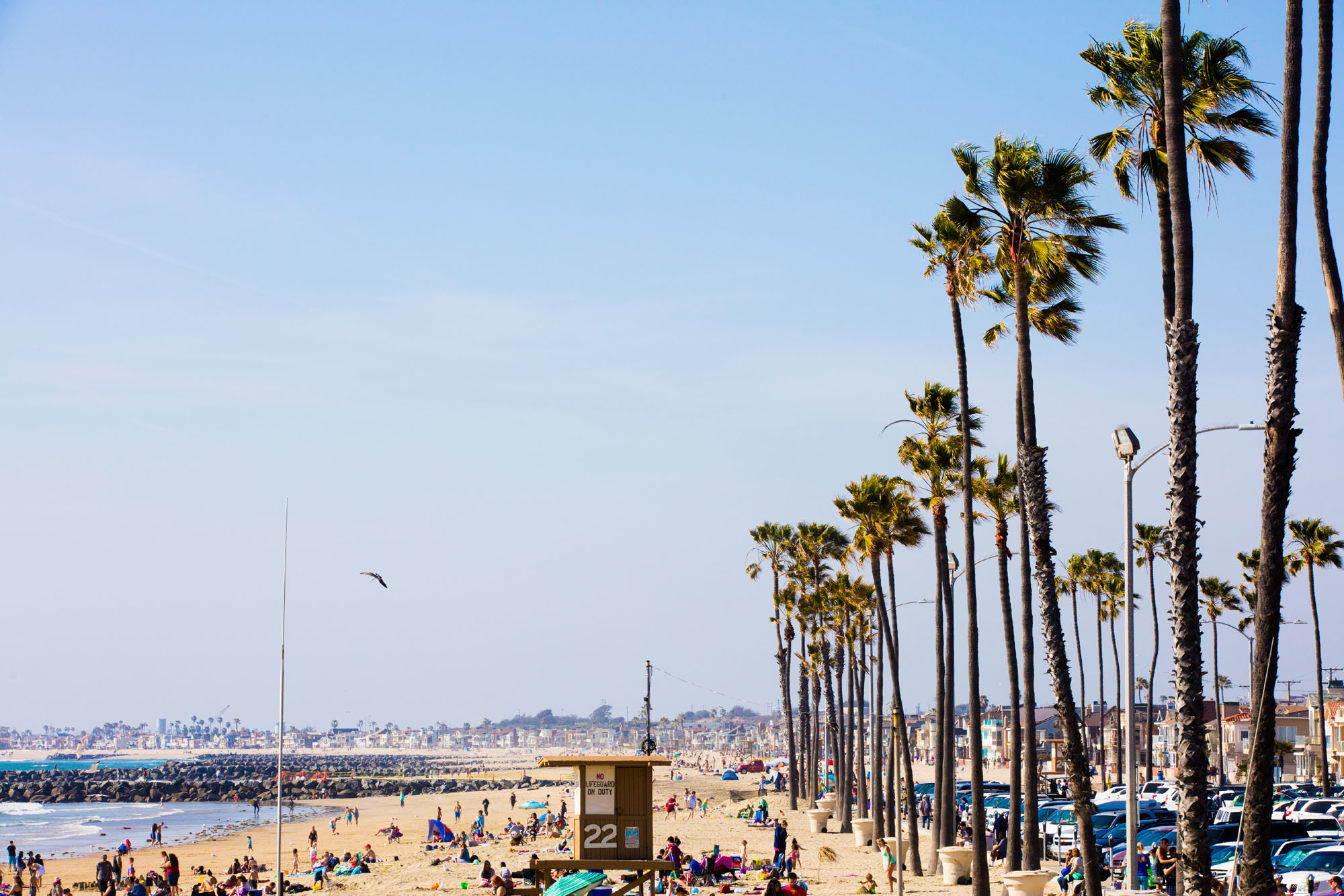 Welcome to southern California: You'll be a short van ride to Newport and Huntington Beaches.