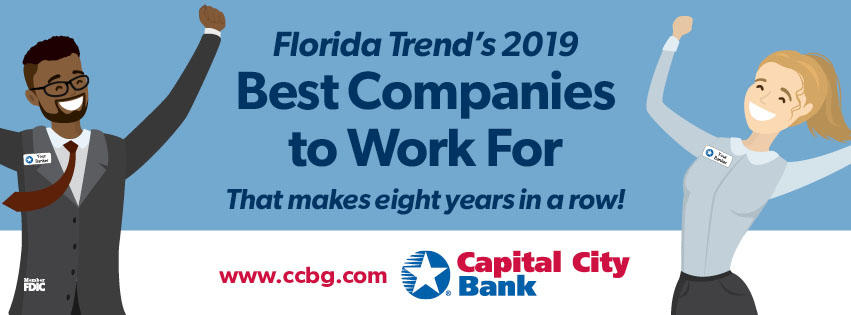 """Capital City Bank Named One Of Florida's """"Best Companies to Work For"""""""