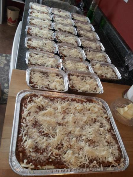 Absolutely Delicious in Sault Ste Marie: Lasagna ready for you to take home