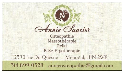 Annie Saucier Ostéopathie et Massothérapie in Montréal
