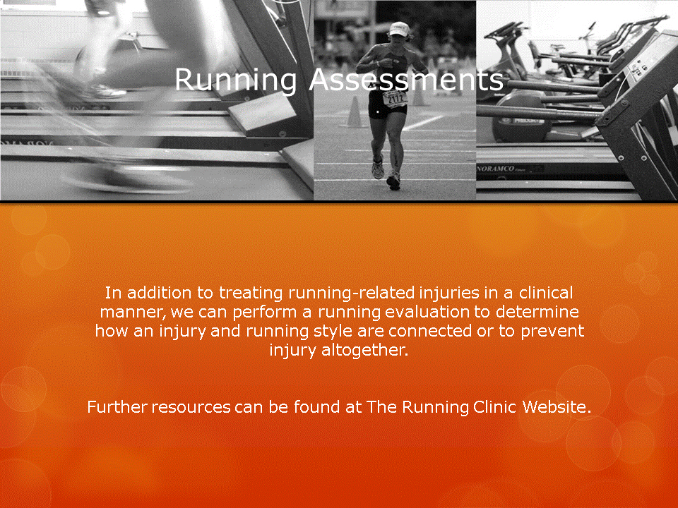 Human Performance Centre in Saint John: In addition to treating running-related injuries in a clinical manner, we can perform a running evaluation to determine how an injury and running style are connected or to prevent injury altogether.