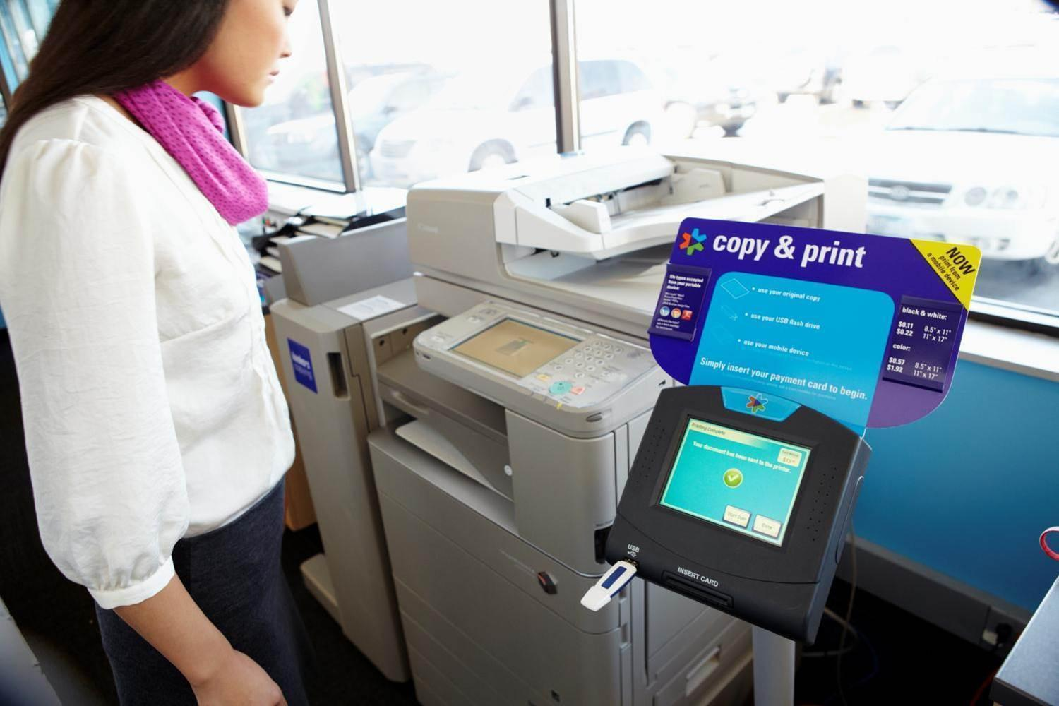 Self Service Copy and Printing.  Mobile Printing.