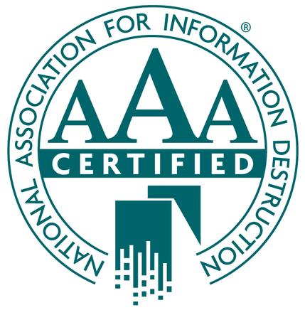 NAID AAA Certified Hard Drive Shredding