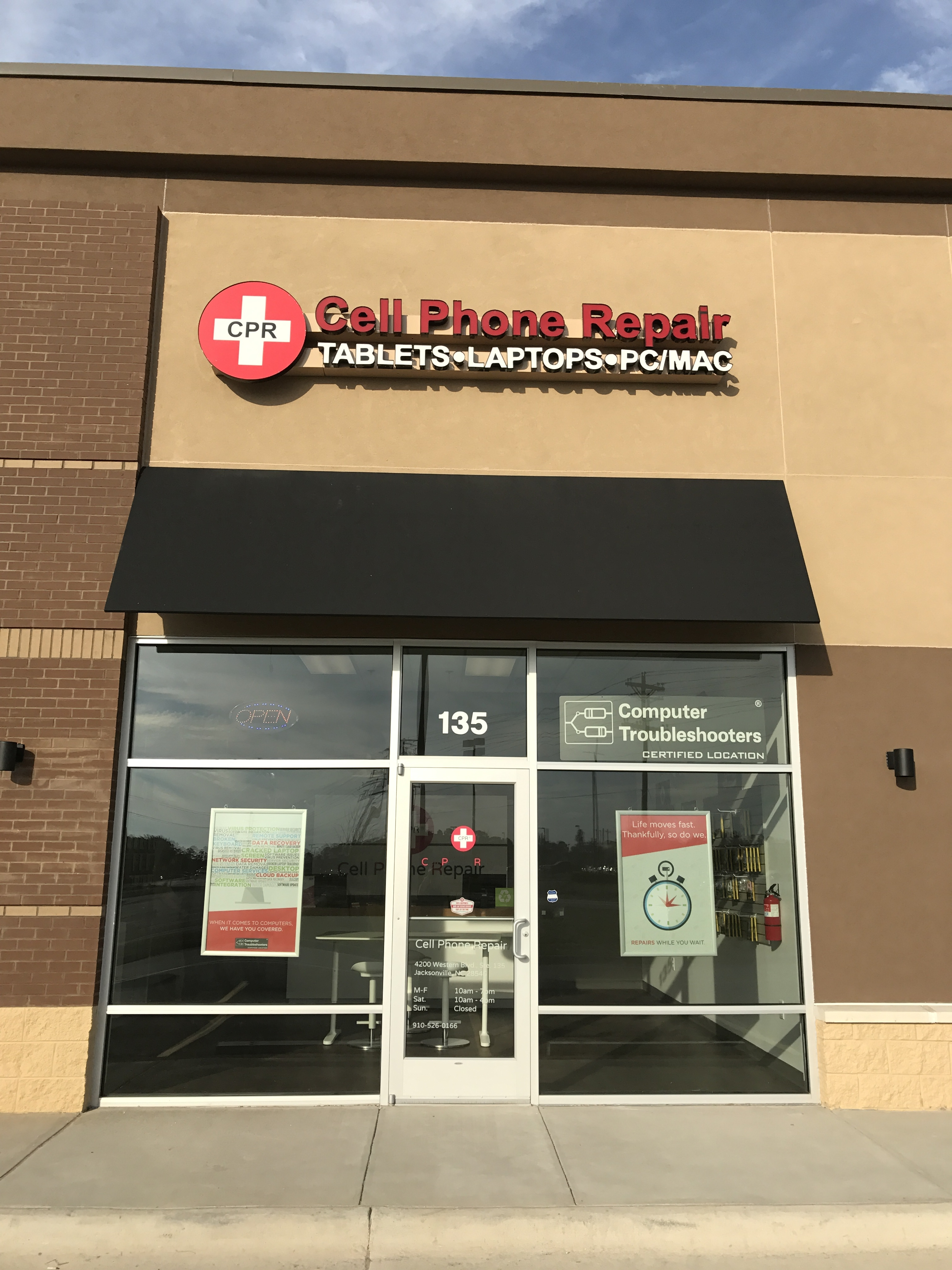 Cpr Cell Phone Repair Jacksonville 4200 Western Blvd Suite 135
