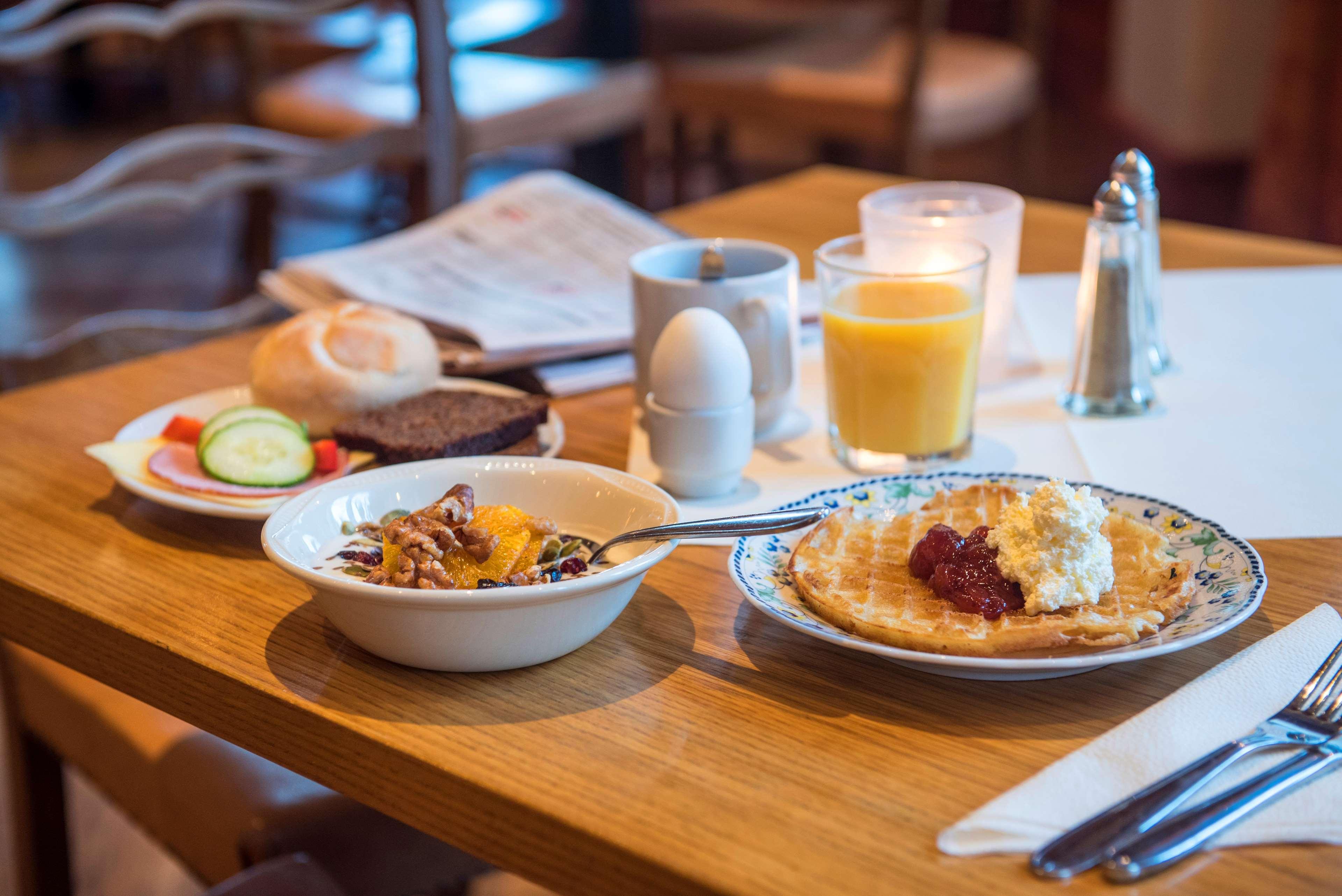 Breakfast in restaurant