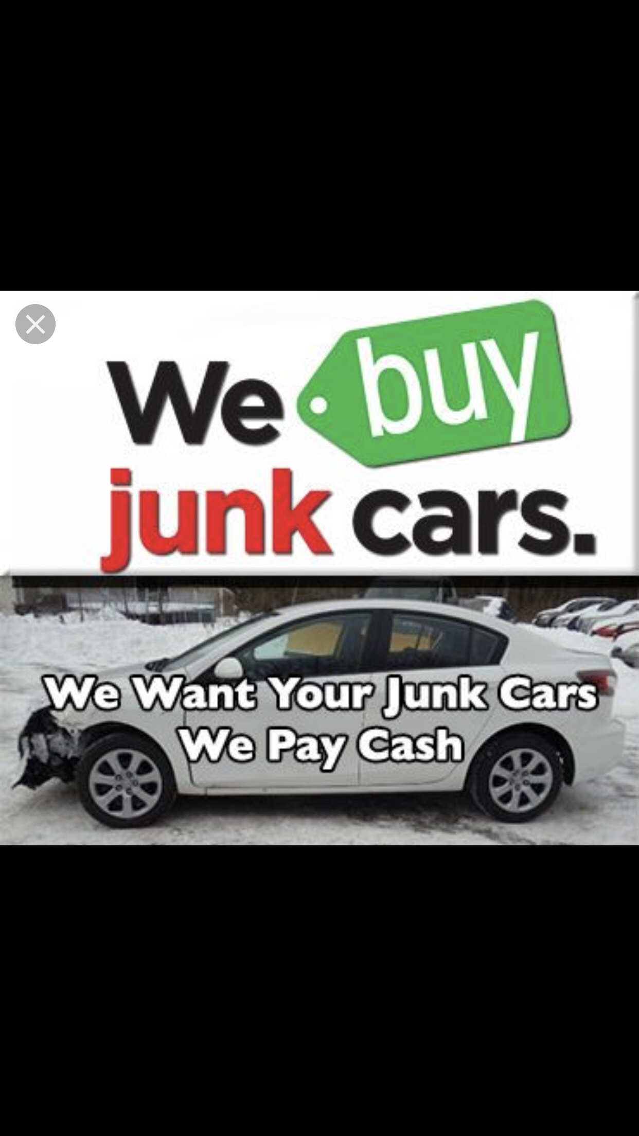 We buy Junk Cars or  Any Condition . image 0