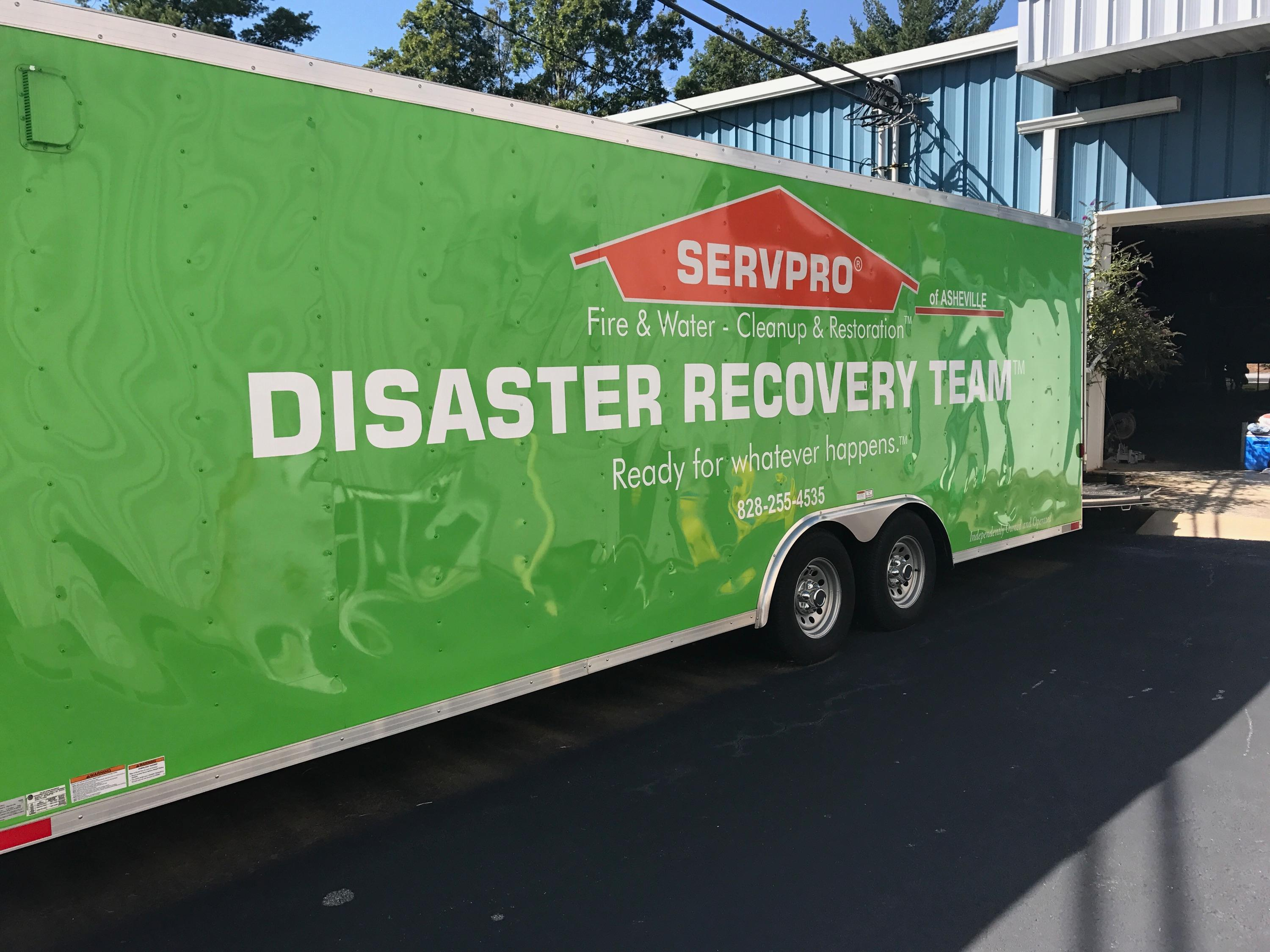 Our Disaster Recovery Team is always ready to head out when disaster strikes. When you need help, count on SERVPRO!