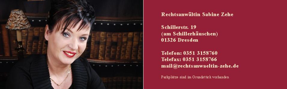 Rechtsanwältin Sabine Zehe, Schillerstraße 19 in Dresden