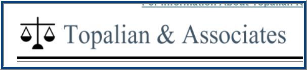 Topalian & Associates - ad image