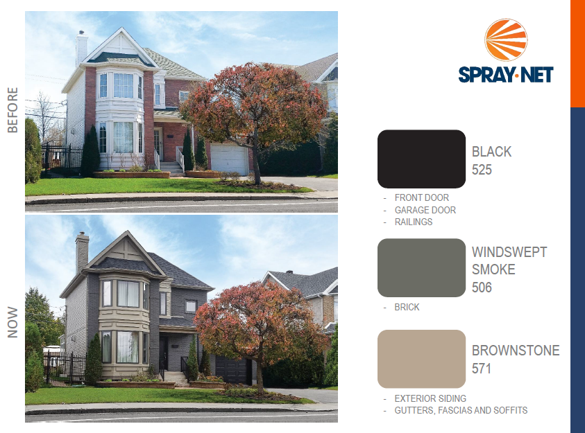 Spray net exterior painting 7238 dishley court - Spray painting house exterior pict ...