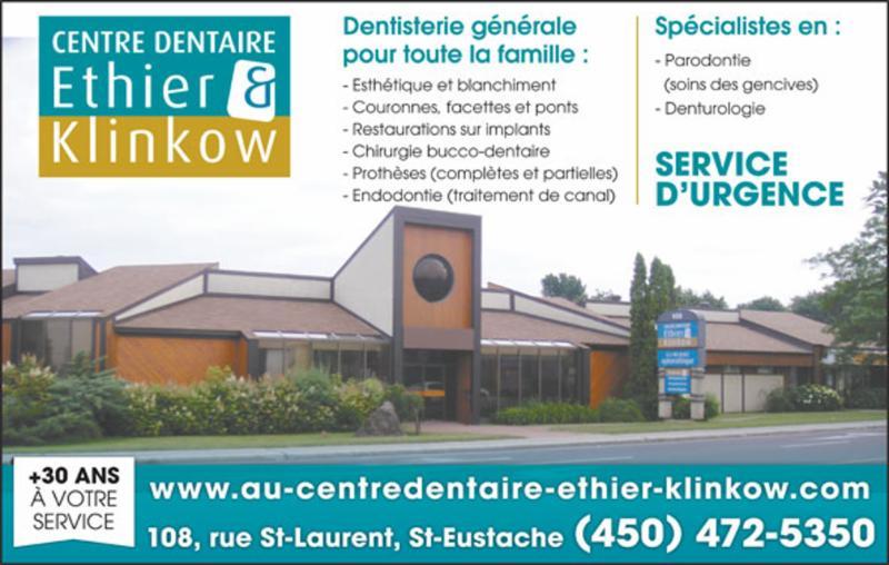 Centre Dentaire Ethier & Klinkow à Saint-Eustache